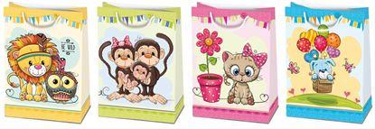Obrázek Dárkové papírové tašky dětské - vel. XL - 34,5 x 48 cm / mix motivů