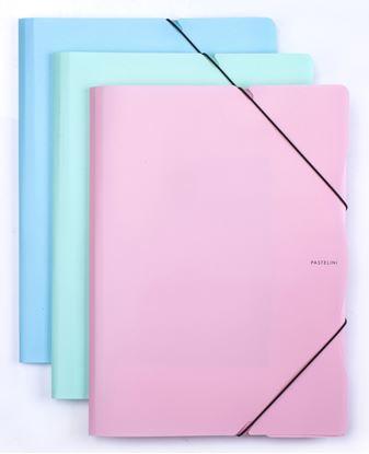 Obrázek Spisové desky A4 s gumou PASTELINI - modrá