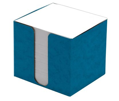 Obrázek Zásobník na záznamní kostky přešpán - modrá