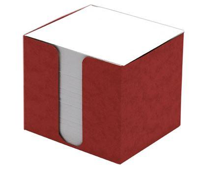 Obrázek Blok špalík 8,5x8,5x8cm nelepený červená