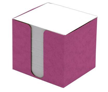 Obrázek Blok špalík 8,5x8,5x8cm nelepený růžová