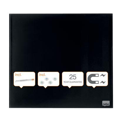 Obrázek Tabule magnetické skleněné Diamond - 45 x 45 cm / černá