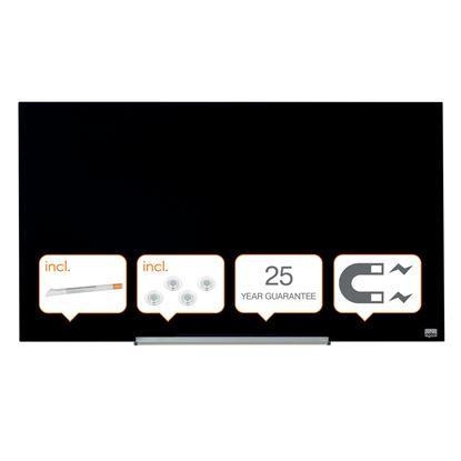 Obrázek Tabule magnetické skleněné Diamond - 99,3 x 55,9 cm / černá
