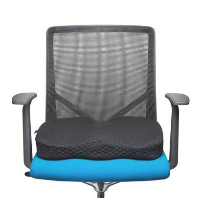 Obrázek Podložka na sezení s paměťovou pěnou Kensington - černá