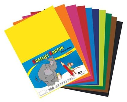 Obrázek Barevný karton - A3 / 180 g / 60 listů / barevný mix