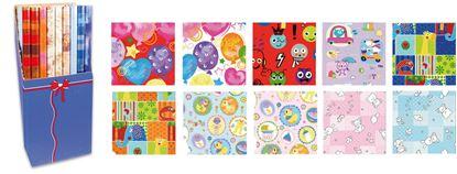 Obrázek Papíry balicí dárkové - 70 x 200 / dětské motivy