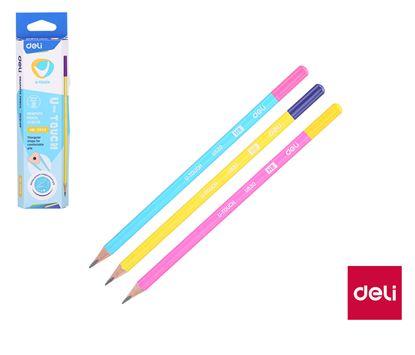 Obrázek Tužka DELI U-TOUCH - HB / barevný mix
