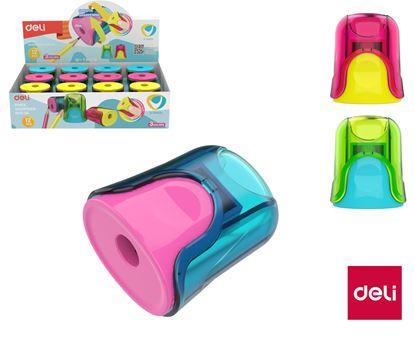 Obrázek DELI ořezávátko se zásobníkem U-TOUCH ER01000 barevný mix