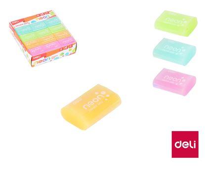Obrázek DELI pryž Neon barevný mix E330581