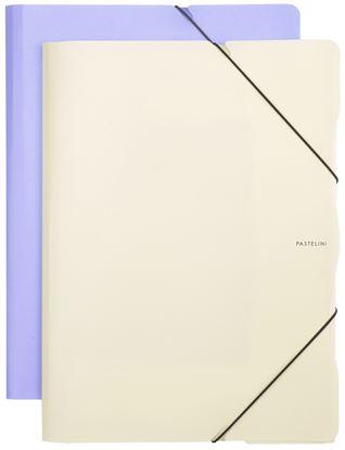 Obrázek Spisové desky A4 s gumou PASTELINI - fialová