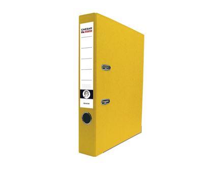 Obrázek Pořadač pákový A4 5cm, lišty, žlutý