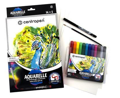 Obrázek Akvarelové popisovače Centropen AQUARELLE 12 barev
