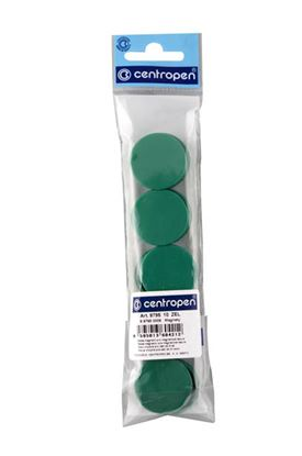 Obrázek Magnety Centropen - průměr 30 mm / zelená / 10 ks