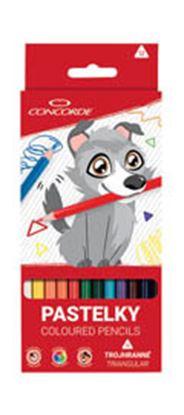 Obrázek Pastelky CONCORDE Volfík - 12 barev