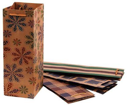 Obrázek Taška na láhev papírová Craft Ornament / 115 x 8,5 x 355 mm