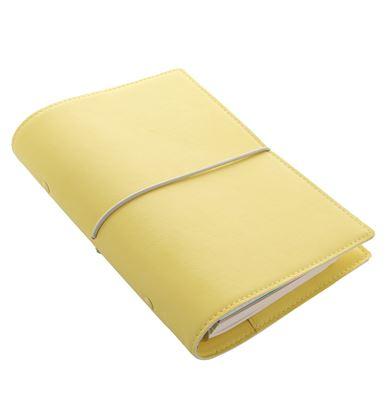 Obrázek Diář Filofax Domino Soft - kapesní / 81 x 120 mm / pastelová žlutá