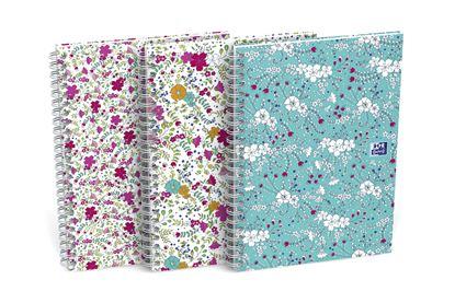 Obrázek Blok Oxford Floral - A5 / linka / 60 listů / mix motivů