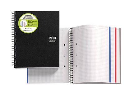 Obrázek Blok kroužkový Journal - A4 / černá