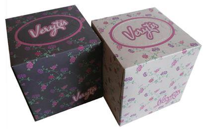 Obrázek Kapesníčky papírové kosmetické Verytis Cube box - třívrstvé / 60 ks