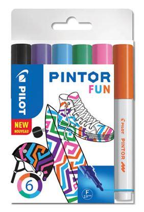 Obrázek Popisovač Pilot Pintor - Fun / 6 ks