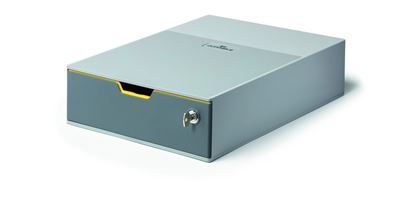 Obrázek Zásuvkový box VARICOLOR® SAFE - 1 zásuvka + zámek / šedá