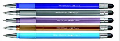 Obrázek Kuličkové pero LINC Touch stylus - barevný mix