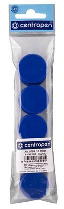 Obrázek Magnety Centropen - průměr 30 mm / modrá / 10 ks