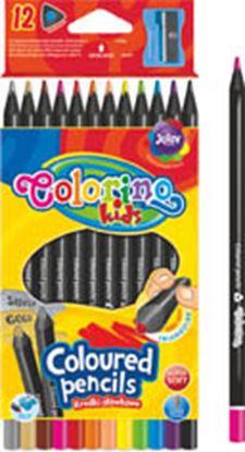 Obrázek Pastelky Colorino černé dřevo - 12 barev