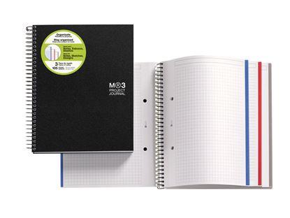 Obrázek Blok kroužkový Journal - A5 / černá