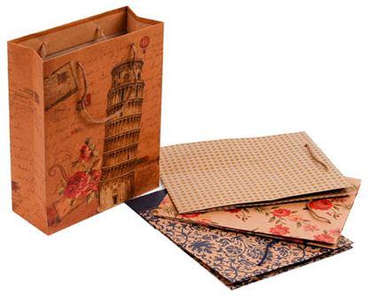 Obrázek Tašky papírové Craft Ornament - střední / 190 x 80 x 240 mm