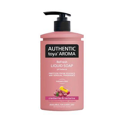Obrázek Mýdla tekutá AUTHENTlC - brusinky a nektarinky / 400 ml