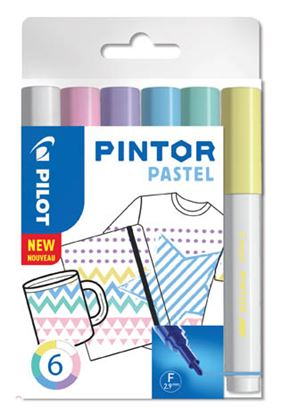 Obrázek Popisovač Pilot Pintor - Pastel / 6 ks