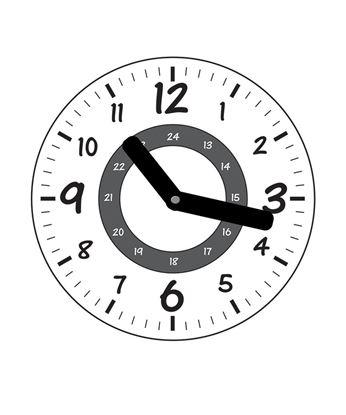 Obrázek Školní hodiny bílé - hranaté