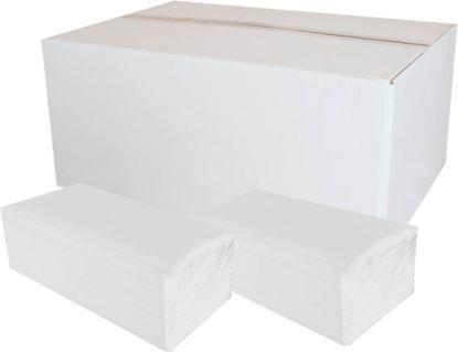 Obrázek PrimaSoft papírové ručníky skládané Z-Z bílé 2-vrstvé 150 ks