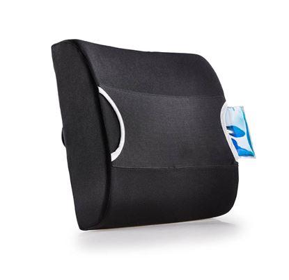 Obrázek Bederní opěrka s termoobkladem - černá