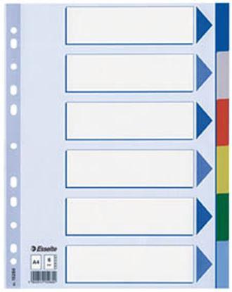 Obrázek Rozdružovač A4 plastový Esselte - 6 listů