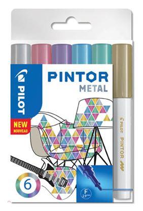 Obrázek Popisovač Pilot Pintor - Metal / 6 ks