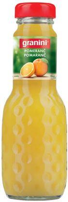 Obrázek Granini 0,2 l SKLO - pomeranč / 100 %