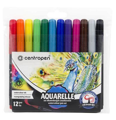 Obrázek Popisovače Centropen Aquarelle 8683/12 12 ks