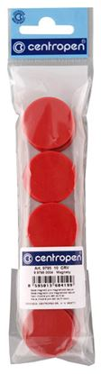 Obrázek Magnety Centropen - průměr 30 mm / červená / 10 ks
