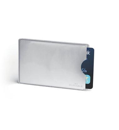Obrázek Obal na kreditní kartu Durable RFID Secure - stříbrná / 10 ks