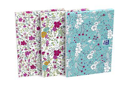 Obrázek Blok Oxford Floral - A6 / linka / 80 listů / mix motivů