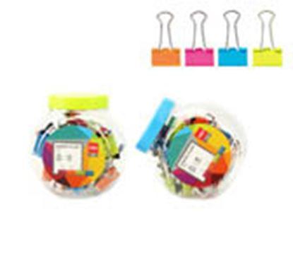 Obrázek Klipy kovové barevné DELI - 25 mm / 12 ks / barevný mix