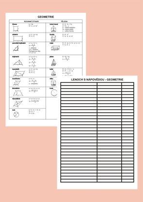 Obrázek Podložka s nápovědou geometrie A4 lamino