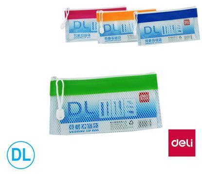 Obrázek Desky spisové DELI se zipem - DL / barevný mix
