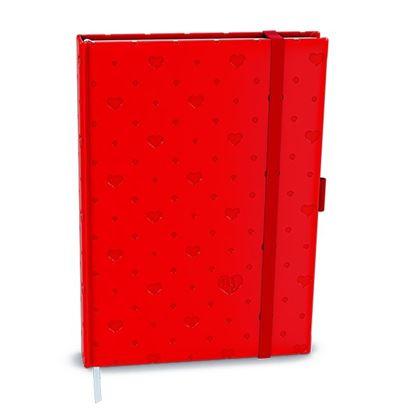 Obrázek Diáre VIVELLA B6 s gumičkou - týdenní / červená srdce