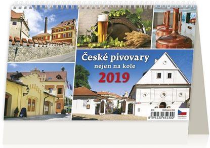 Obrázek Kalendář stolní ČESKÉ PIVOVARY NEJEN NA KOLE - České pivovary nejen na kole / S13
