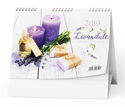 Obrázek Kalendář stolní LEVANDULE - Levandule / BSV5