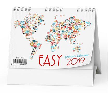 Obrázek Kalendář stolní pracovní EASY -  BSA5