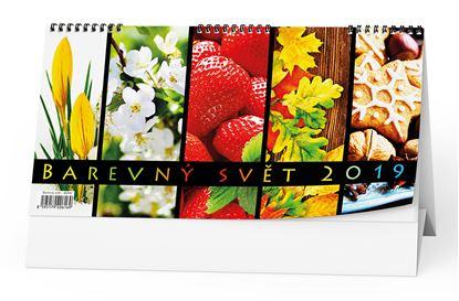 Obrázek Kalendář stolní BAREVNÝ SVĚT - BSH6